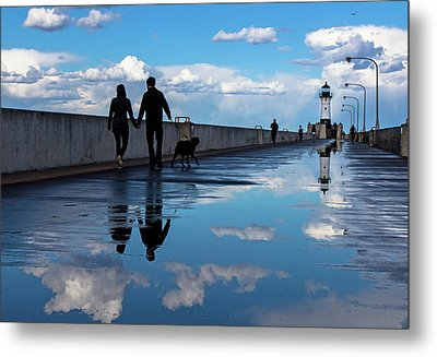 Metal Print featuring the photograph Puddle-licious by Mary Amerman
