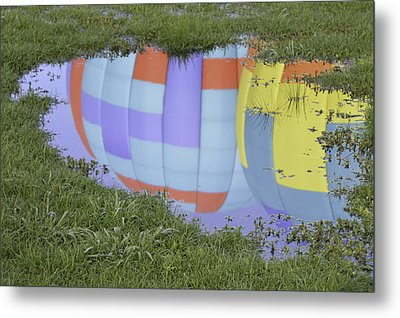 Metal Print featuring the photograph Puddle Reflections by Linda Geiger