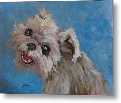 Pudgy Smiles Metal Print