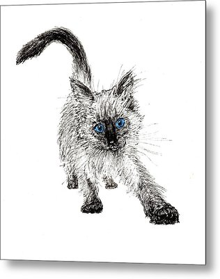 Pudsquiz Belina On The Prowl  Metal Print