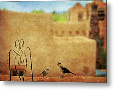 Metal Print featuring the photograph Pueblo Village Settlers by Diana Angstadt