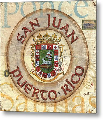 Puerto Rico Coat Of Arms Metal Print by Debbie DeWitt
