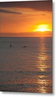 Puerto Vallarta Sunset Metal Print by Sebastian Musial