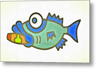 Puffer Fish Metal Print by Edward Fielding