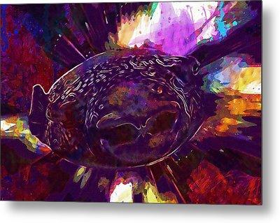 Puffer Fish Fish Funny Aquarium  Metal Print