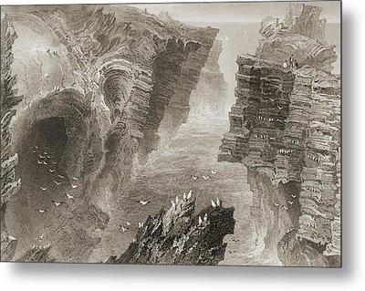 Puffin Hole, Near Kilkee, County Clare Metal Print