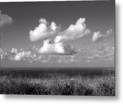 Puffy Clouds Metal Print by Patricia Strand