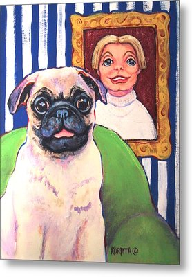 Pug - Beth Ann And Butch Metal Print by Rebecca Korpita