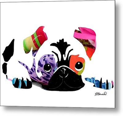 Pug Pup Metal Print by Cindy Edwards