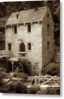 Metal Print featuring the photograph Pughs Mill - North Little Rock Arkansas - Sepia by Gregory Ballos