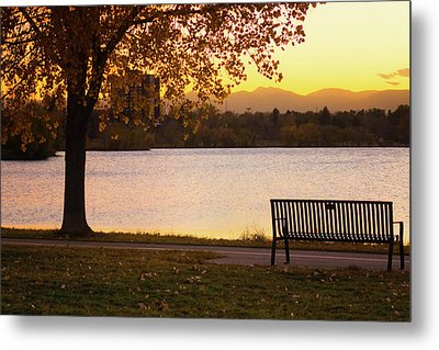 Metal Print featuring the photograph Pull Up A Seat by John De Bord