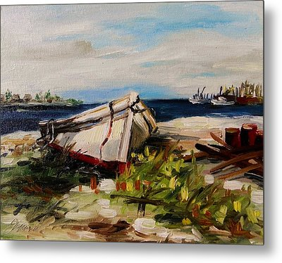 Metal Print featuring the painting Pulled Up On Shore by John Williams
