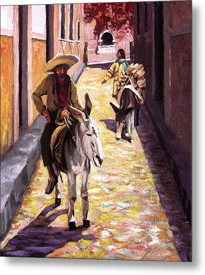 Pulling Up The Rear In Mexico Metal Print by Nancy Griswold