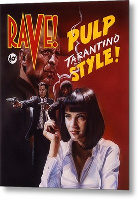 Pulp Fiction Metal Print by Tim  Scoggins