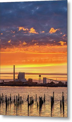 Metal Print featuring the photograph Pulp Mill Sunset by Greg Nyquist