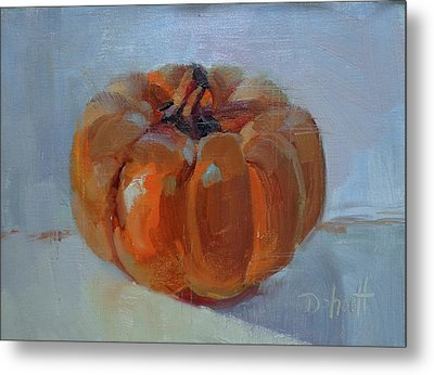 Pumpkin Alone  Metal Print