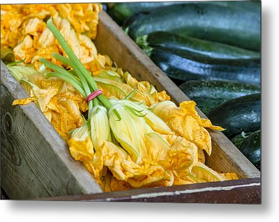 Pumpkin Blossoms Metal Print