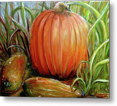Pumpkin Patch  Metal Print by Bernadette Krupa