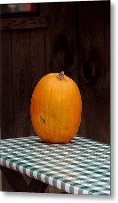 Pumpkin Portrait Metal Print