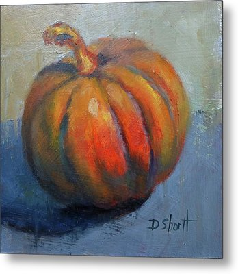 Pumpkin Pretty Metal Print