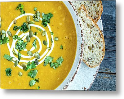 Pumpkin Soup For Dinner Metal Print