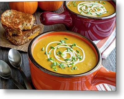 Pumpkin Squash Soup For Dinner Metal Print