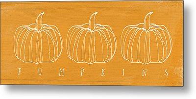 Pumpkins- Art By Linda Woods Metal Print by Linda Woods