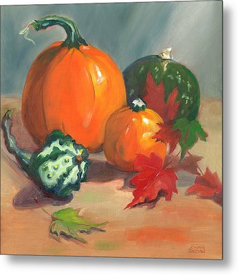 Pumpkins Metal Print by Susan Thomas