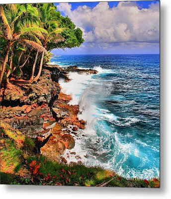 Metal Print featuring the photograph Puna Coast Hawaii by DJ Florek