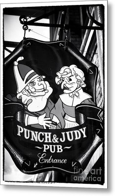 Punch And Judy Pub Metal Print by John Rizzuto