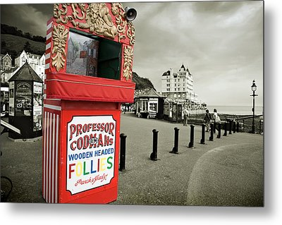 Punch And Judy Theatre On Llandudno Promenade Metal Print by Mal Bray