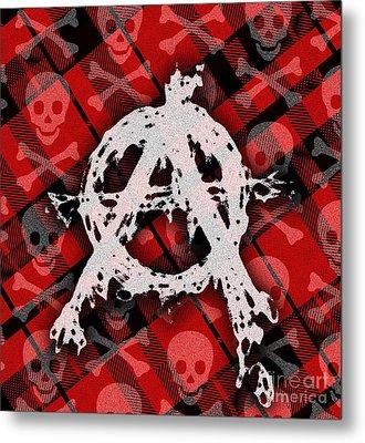 Punk Anarchy Metal Print by Roseanne Jones