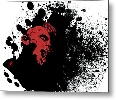 Punk Rock Metal Print by Wes Huffor