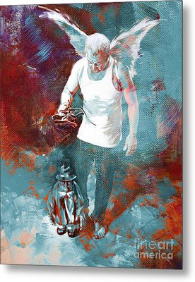 Metal Print featuring the painting Puppet Man 003 by Gull G