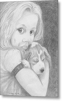 Puppy Dog Eyes Metal Print by Harry Moulton