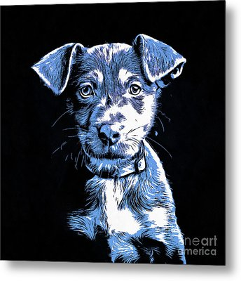 Puppy Dog Graphic Novel Drawing Metal Print