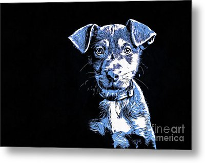 Puppy Dog Graphic Novel  Metal Print
