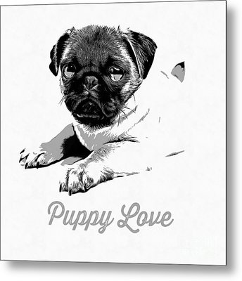 Puppy Love Metal Print by Edward Fielding