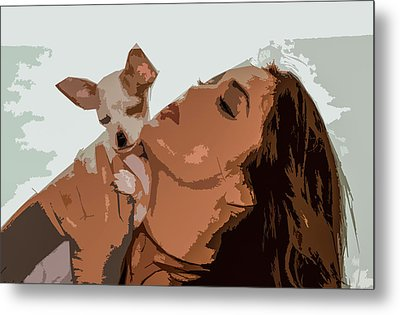 Puppy Love Metal Print by Josy Cue