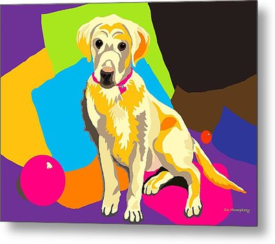 Puppy Princess And The Pillows Metal Print by Su Humphrey