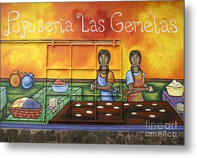 Pupusa Twins El Salvador Metal Print by John  Mitchell