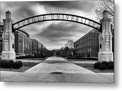 Purdue Entrance Sign Metal Print
