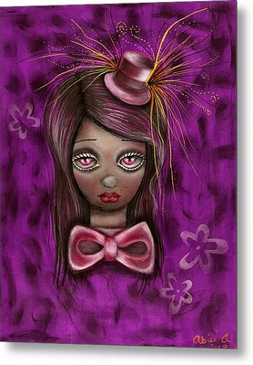 Purple Metal Print by  Abril Andrade Griffith