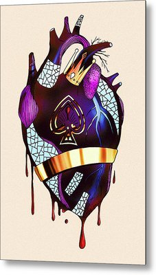 Royal Heart  Metal Print by Kenal Louis
