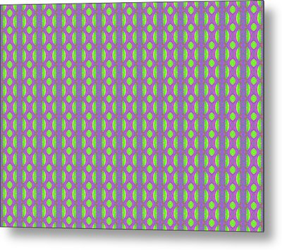 Metal Print featuring the digital art Purple And Green by Elizabeth Lock