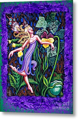 Purple And Green Fairy Metal Print