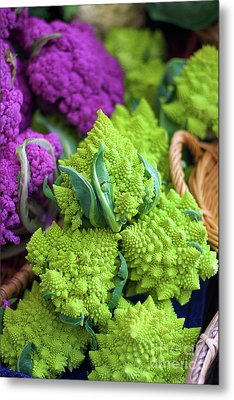 Purple And Romanesco Cauliflower Metal Print