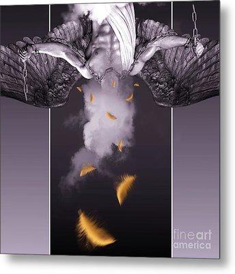 Purple  Angel  Metal Print by Mark Ashkenazi