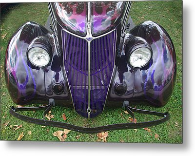 Purple Antique Ford Metal Print