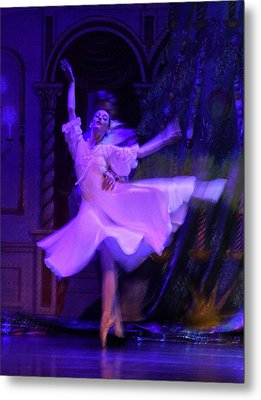 Purple Ballet Dancer Metal Print
